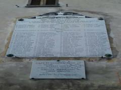 Lapide ai caduti Grande Guerra di Arcevia