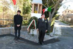 Matteo Principi e il Presidente della Sezione di Corinaldo Mauro Saltarelli