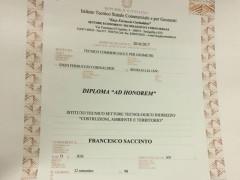 Diploma ad honorem a Francesco Saccinto