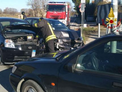 Incidente al Vallone di Senigallia, all'incrocio tra strada Arceviese e strada della Chiusa