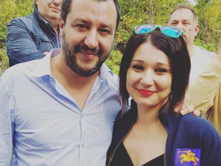 Matteo Salvini con Michela Silvestrini