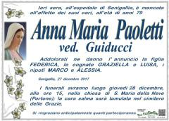Morte Anna Maria Paoletti