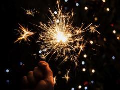 Fuochi d'artificio, scintille