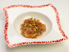 Tacconi di farina di fave con cicerchia di Serra de' Conti - ricetta di Marco Giacomelli