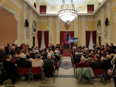 Discorso di fine anno 2017 in sala consiliare a Senigallia