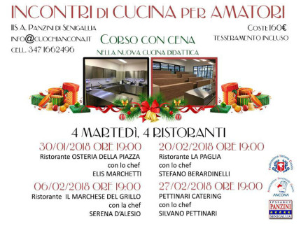 Corsi di cucina per amatori al Panzini di Senigallia