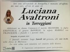 Luciana Avaltroni, necrologio