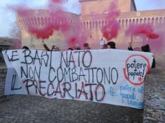 Potere al Popolo protesta a Senigallia contro le basi NATO