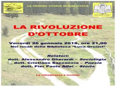 La Rivoluzione d'ottobre, presentazione serata