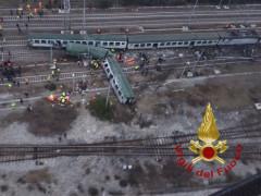 Treno deragliato a Milano