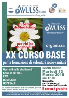 Avulss Senigallia - XX Corso base per la formazione di volontari socio-sanitari - locandina