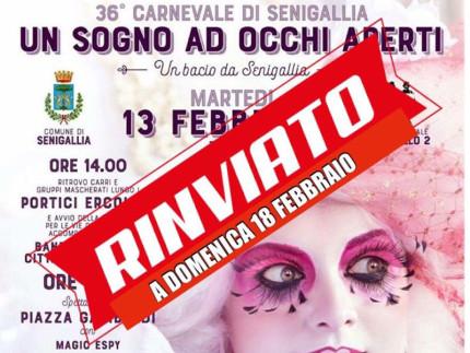 Carnevale di Senigallia rinviato al 18 febbraio 2018