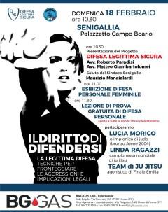 Presentazione progetto Difesa Legittima Sicura a Senigallia - locandina