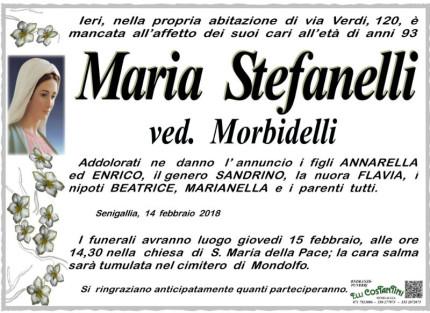 Maria Stefanelli, necrologio