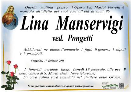 Necrologio Lina Manservigi