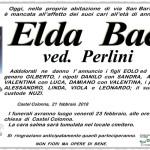 Elda Baci, necrologio