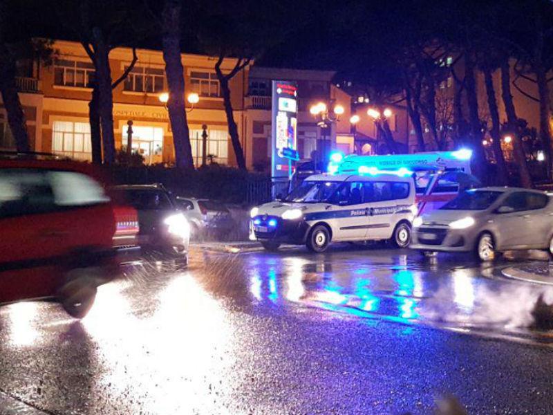 Polizia Municipale rileva l'incidente in via Po a Senigallia