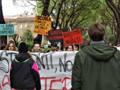 Manifestazione studentesca a Senigallia contro la Buona Scuola