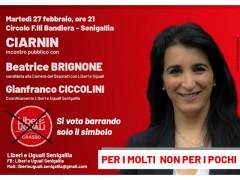 Beatrice Brignone incontra i cittadini al Circolo ARCI del Ciarnin