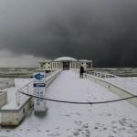 Spiaggia e lungomare di Senigallia sotto la neve - Foto di Lorenzo Ceccarelli