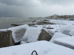 Neve sulla spiaggia di Senigallia - foto di Sara Ragnetti