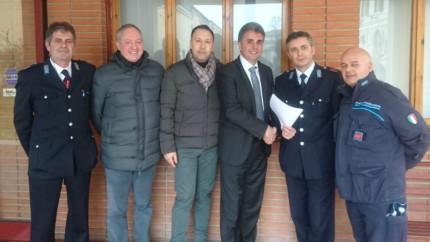 Baldelli (FDI) e Silvestri incontrano gli agenti del carcere di Fossombrone