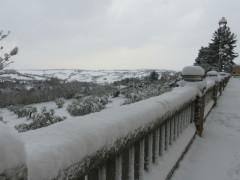 Vedute di Scapezzano di Senigallia imbiancate dalla neve - Foto Massimo Modesti