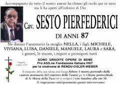 Sesto Pierfederici, necrologio