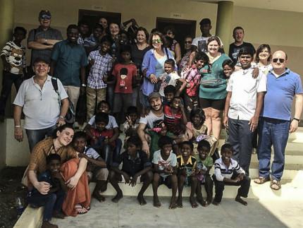 Il gruppo di Amici di casa BBL recatosi in India nel 2018