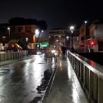 Allerta fiume Misa: montaggio paratie su ponte Garibaldi