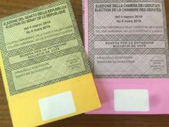 Schede elettorali 4 marzo 2018