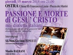 """Presentazione del libro di Manlio Baleani """"Passione e Morte di Gesù Cristo nei dialetti italiani"""""""