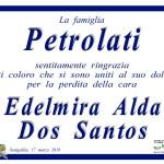 Ringraziamenti dalla famiglia Petrolati