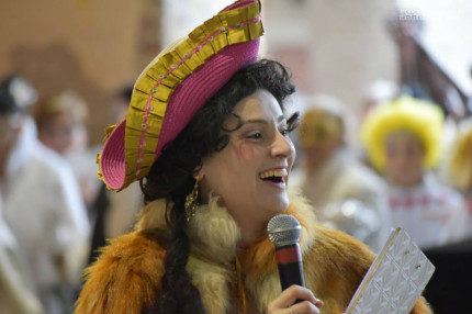 Anna Marconi in maschera al Carnevale 2018 di Senigallia - Foto di Francesco Salvatori
