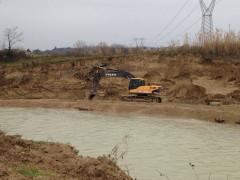 Lavori nell'alveo e sugli argini del fiume Misa in zona fosso del Sambuco