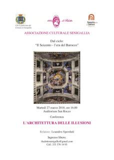L'architettura delle illusioni - conferenza a Senigallia - locandina