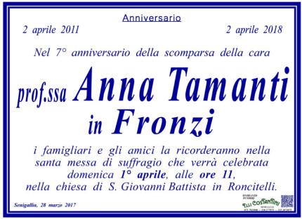 Anniversario scomparsa Anna Tamanti