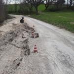 Frana sulla strada per Roncitelli di Senigallia