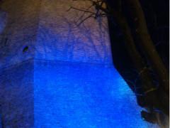Sperone in blu a Corinaldo