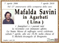 Anniversario scomparsa Mafalda Savini