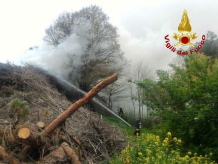 Incendio a Senigallia
