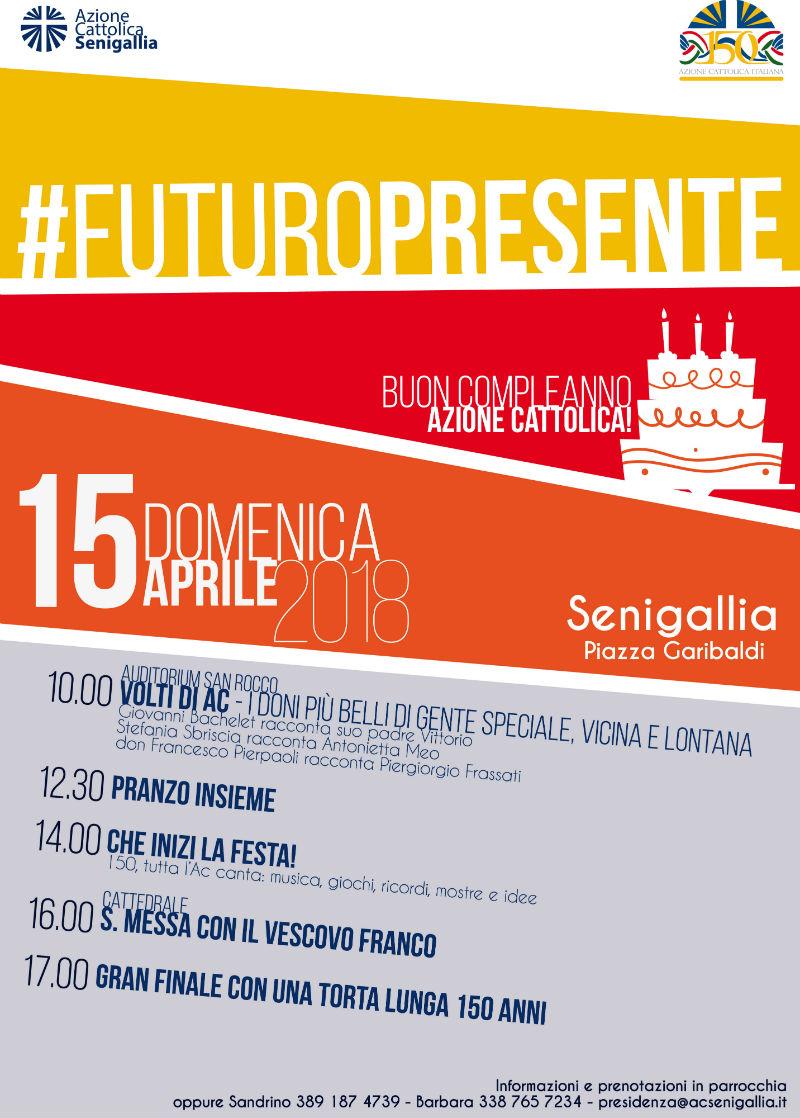 Festa a Senigallia per i 150 anni dell'Azione Cattolica italiana - locandina