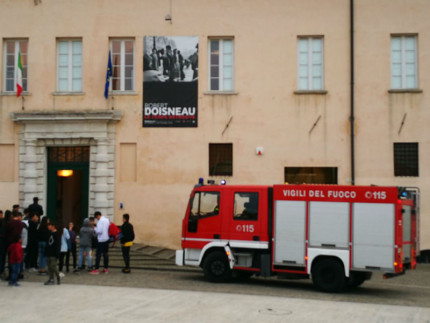 Intervento dei Vigili del Fuoco a Palazzo del Duca