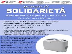 Pranzo solidarietà Vallone