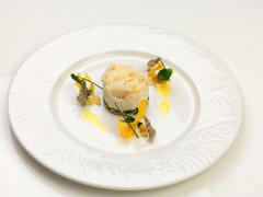 Baccalà mantecato con ricotta di pecora su insalata di cicerchie e cime di rapa - ricetta di Gabriele Bastianoni