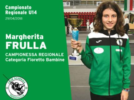 Margherita Frulla, campionessa regionale fioretto bambine