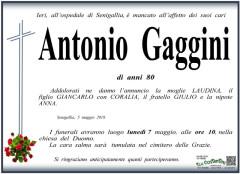 Antonio Gaggini, necrologi