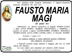 Fausto Maria Magi, necrologi
