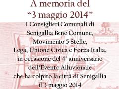 Commemorazione alluvione 2014 - Pergamena di ringraziamento da parte dei gruppi consiliari