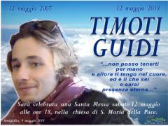 Una Santa Messa per ricordare Timoti Guidi